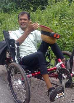 Govind on his Trike